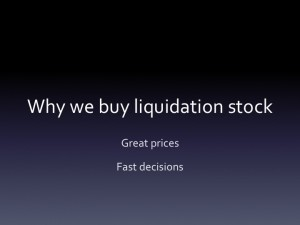 Liquidation stock | Company liquidation
