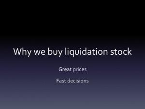 Liquidation stock | Company liquidation