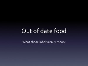 Out of date food labels