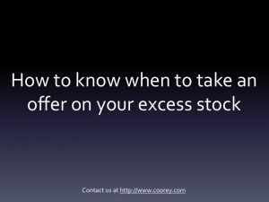 Excess stock image of overstocks